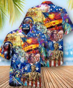 America My Patriotic Heart Beats Red White and Blue Edition - Hawaiian Shirt