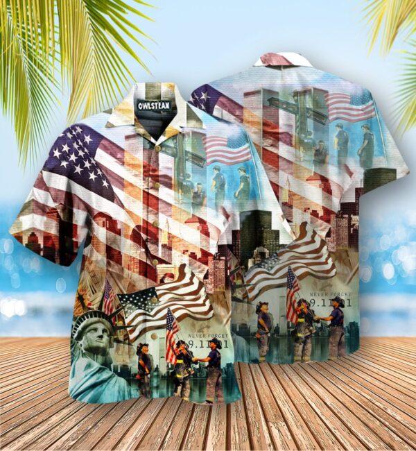 America Never Forgotten Tower Challenge Edition - Hawaiian Shirt