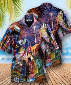 America New Years Day Firework Party Edition - Hawaiian Shirt