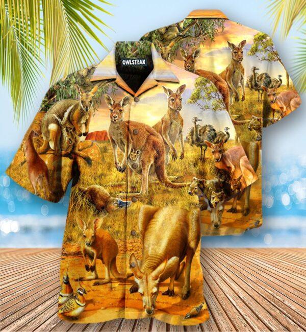 Animals My Spirit Animal Is A Kangaroo Edition - Hawaiian Shirt