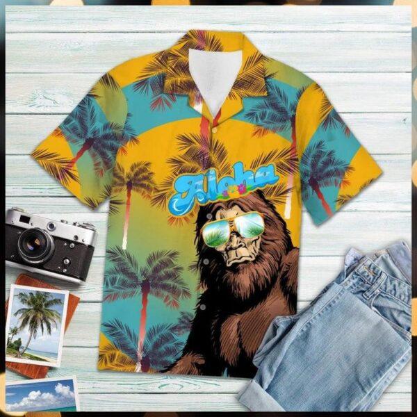 Bigfoot Aloha Hawaiian Shirt