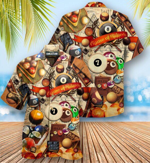 Billiards Never Give Up Until The Last Ball Falls Edition - Hawaiian Shirt