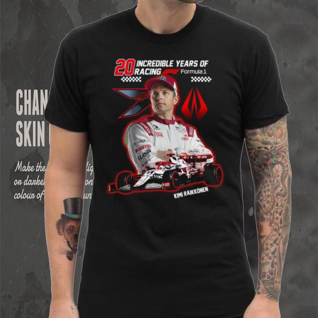 20 incredible years of racing formula Kimi Raikkonen shirt