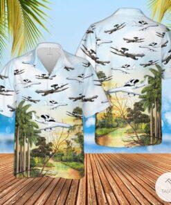 Air Force Boeing E 3 Sentry Hawaiian Shirt Beach Shorts