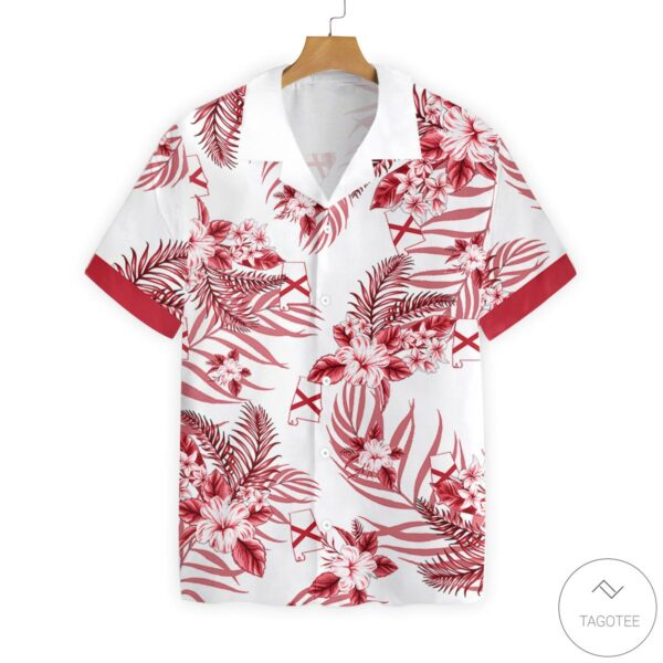 Alabama Proud Button Hawaiian Shirt