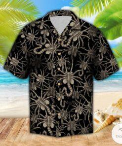Alien Face Hugger Hawaiian Shirt