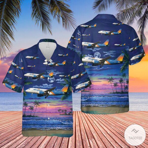 Allegiant Air Airbus A319 111 Hawaiian Shirt Beach Shorts