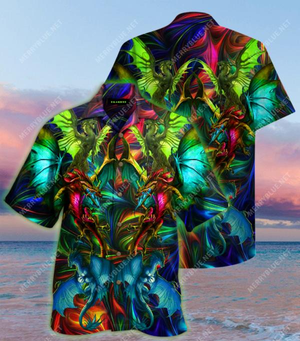 Amazing Dragon Unisex Hawaii ShirtS