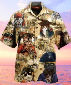 Amazing Pirate Cat Hawaiian Aloha shirt