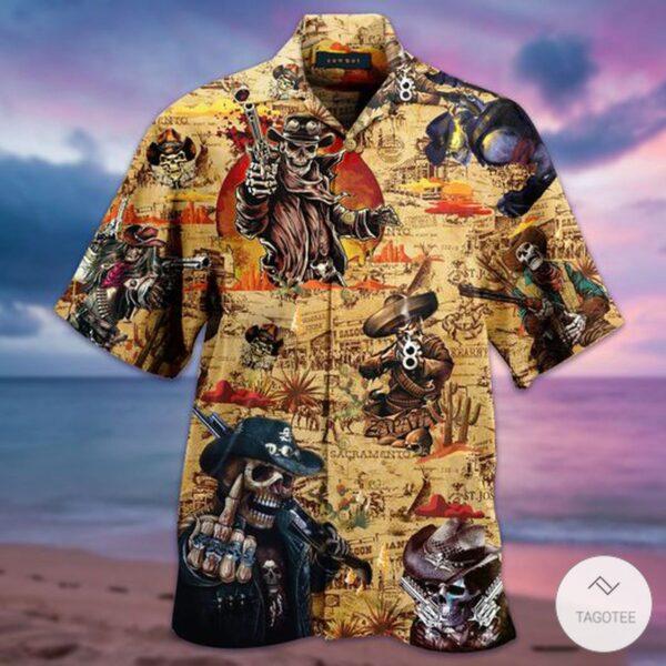 Amazing Vintage Cowboy Hawaiian Shirt