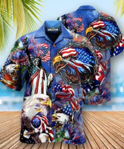 America My Heat Beats True To My Country Patriotism Edition - Hawaiian Shirt