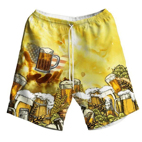 American Eagles And Beer Hawaiian Shirt And Shorts