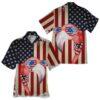 American Flag Flamingo Hawaiian Shirts