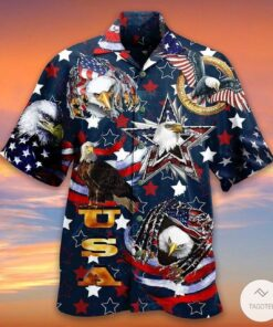 American Patriotism Is Unique Bald Eagle Hawaiian Shirt