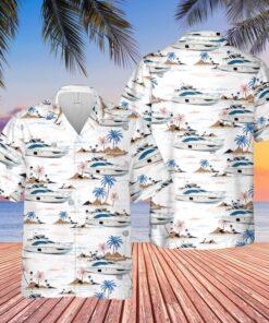 Azimut Yacht USA Hawaiian Shirt And Short
