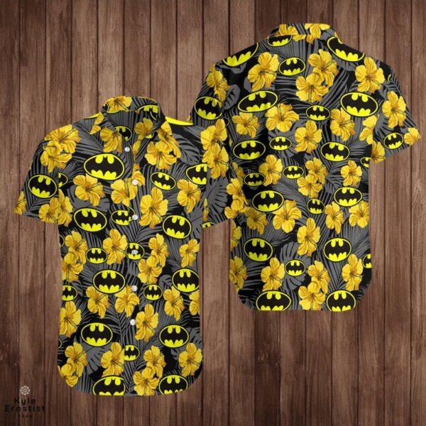 Bat Man Superhero Cool Dc Comic Movie Hibiscus Hawaii Shirt