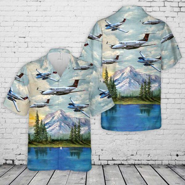 Beechcraft King Air 350 Hawaiian Shirt