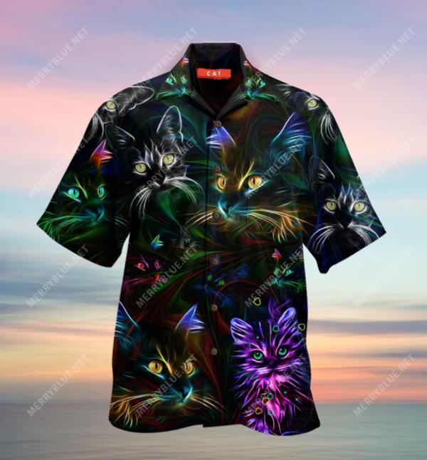 Cat Hair Dont Care Hawaiian Unisex Shirt