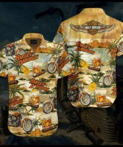 Cigar Har-ley-David-son Hawaiian Aloha shirt