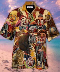 Clown Circus Hawaiian Aloha shirt
