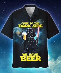 Come To The Dark Side We Have Beer Darth Vader Hawaiian Aloha shirt