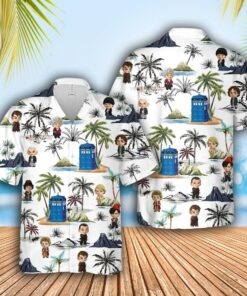Doctor Who Tardis Hawaiian Aloha shirt