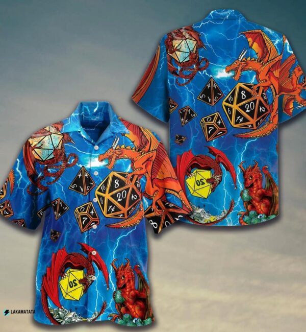 Dungeons And Dragons Dnd Game Monster Hawaiin Shirt