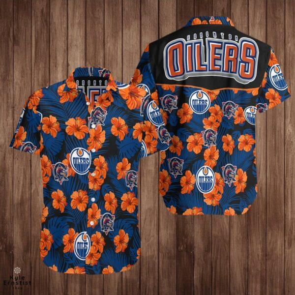 Edmonton Oilers Logo Nhl Hockey Sports Hawaii Shirt