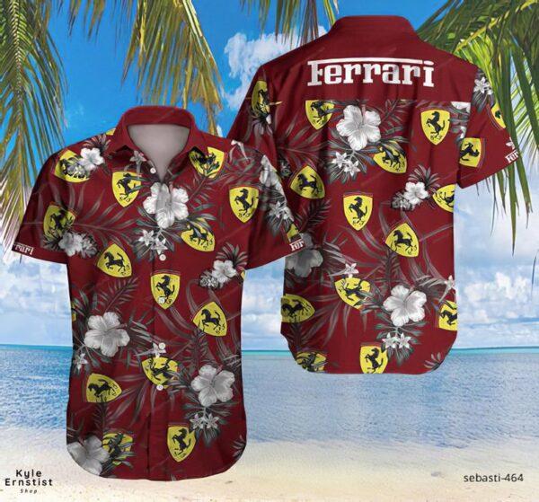 Ferrari Super Sports Car Luxury Brand Cool Hawaii Shirt