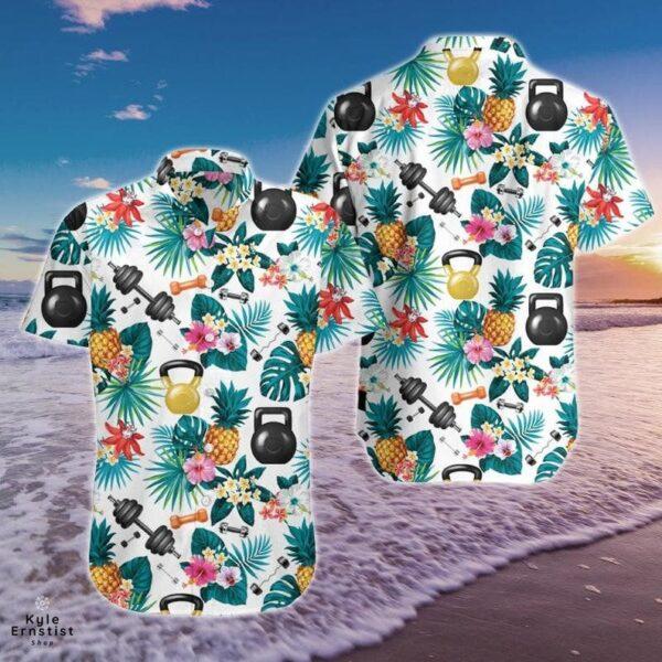 Fitness Workout Flower Cool Hawaii Shirt