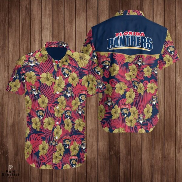 Florida Panthers Logo Nhl Hockey Sports Cool Hawaii Shirt