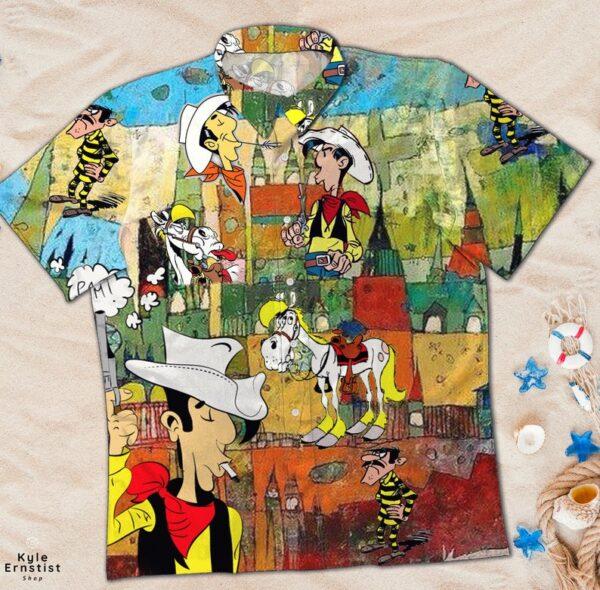 Funny Lucky Luke Cartoon Movie Hawaii Shirt