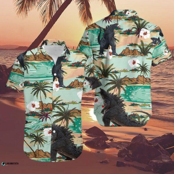 Godzilla Vs Kong Movie Cartoon Hawaiian Shirt