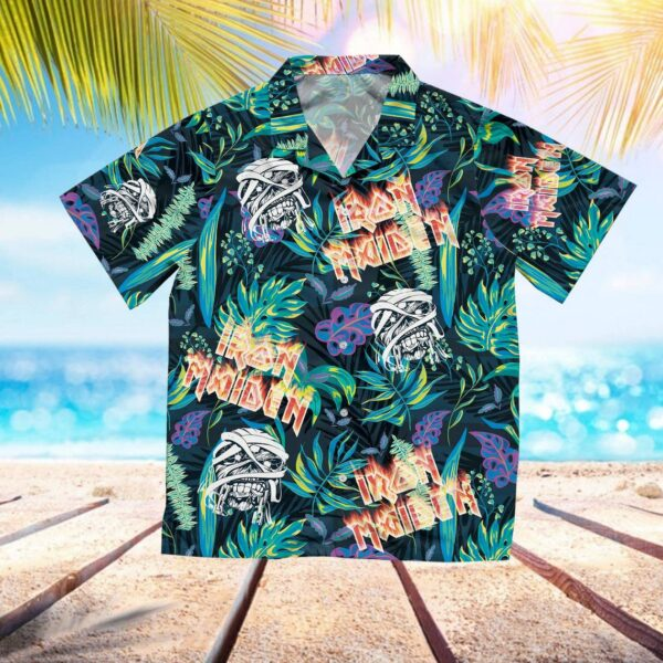 I-ron Mai-den Hawaiian Aloha shirt, Skull Hawaiian Shirt