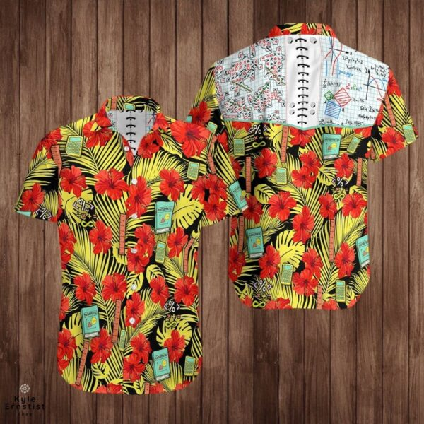 Maths And Tic Cool Subject Hibiscus Flower Hawaii Shirt