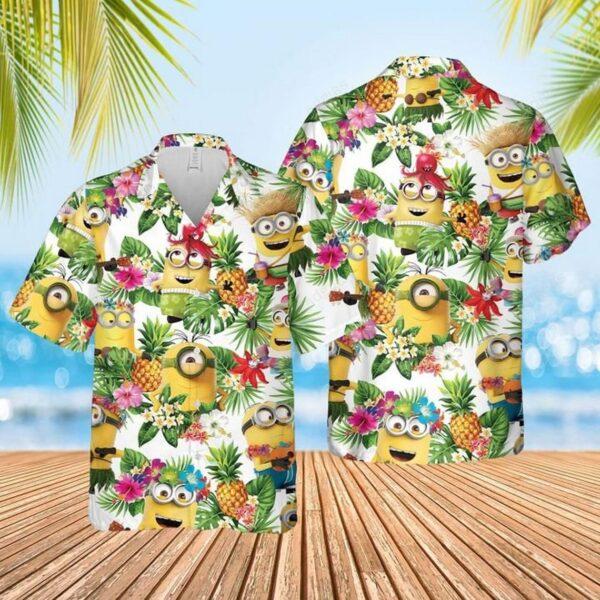 Minions Aloha Pineapple Hawaiian shirt