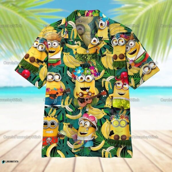 Minions Banana Tropical Cartoon Movie Disney Hawaii Shirt
