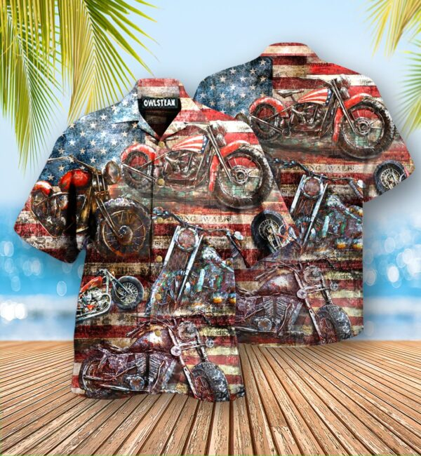 Motorcycles No Plans No Maps Just Ride Edition - Hawaiian Shirt
