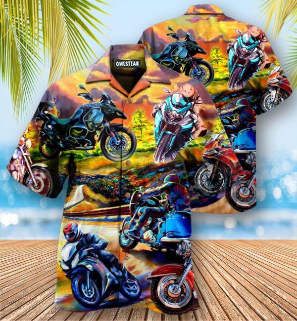 Motorcycling Under The Sunset Edition - Hawaiian Shirt