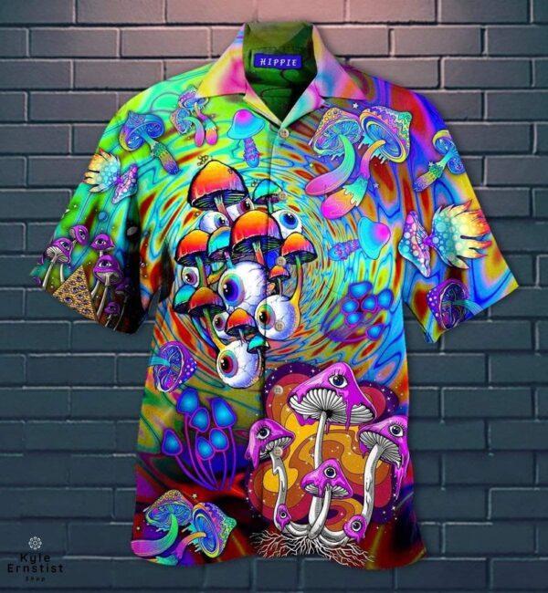 Mushroom Hippie Eye Plant Hawaii Shirt