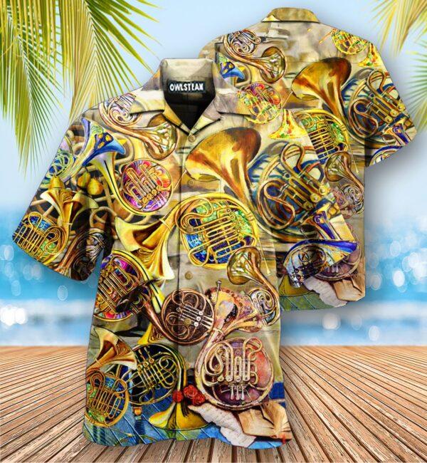 Music Is Life Itself French Horn Edition - Hawaiian Shirt