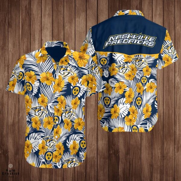 Nashville Predators Logo Nhl Hockey Sports Cool Hawaii Shirts