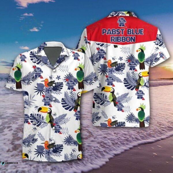 Pabst Blue Ribbon Bird Beer Drink Cool Hawaii Shirt