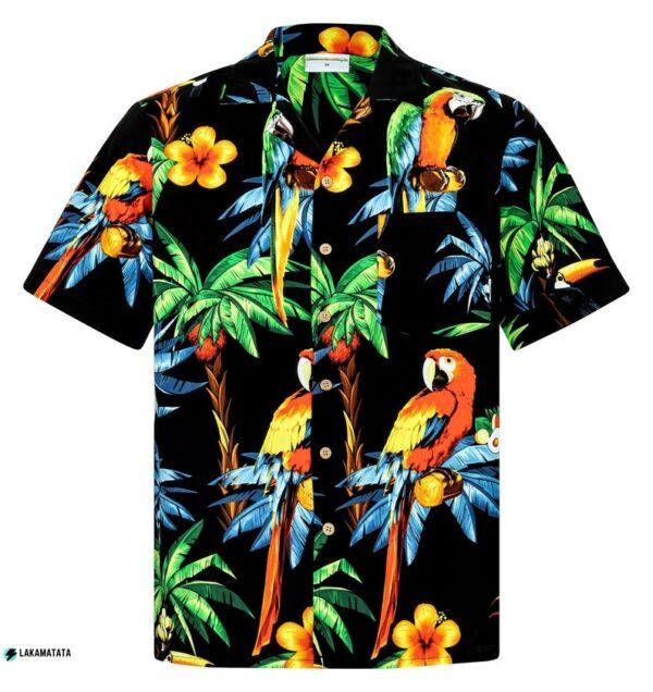 Parrots On The Beach Tropical Floral Animal Hawaiian Shirt