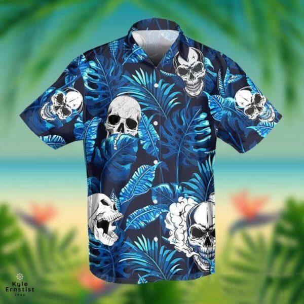 Skull Blue Horror Hawaii ShirtSkull Blue Horror Hawaii Shirt