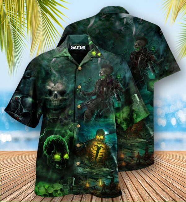 Skull No Flesh No Brain But Still In Pain Edition Hawaiian Shirt
