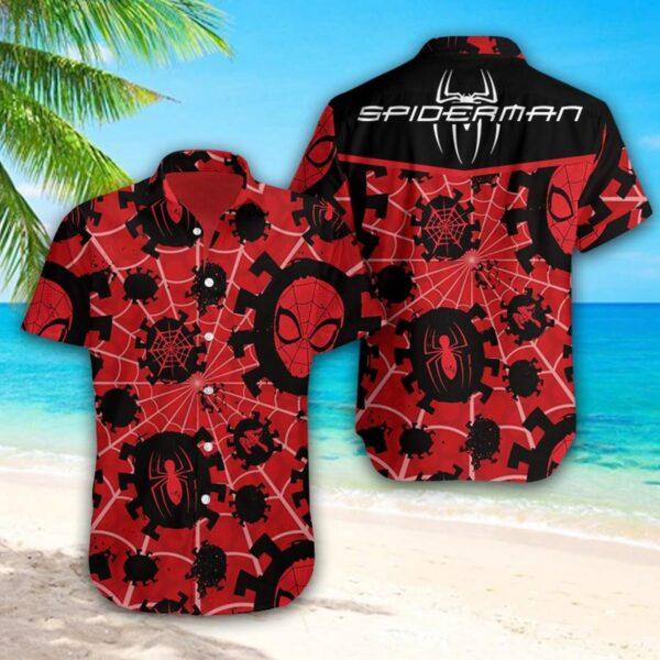 Spider man Mar vel Hawaii Aloha shirt