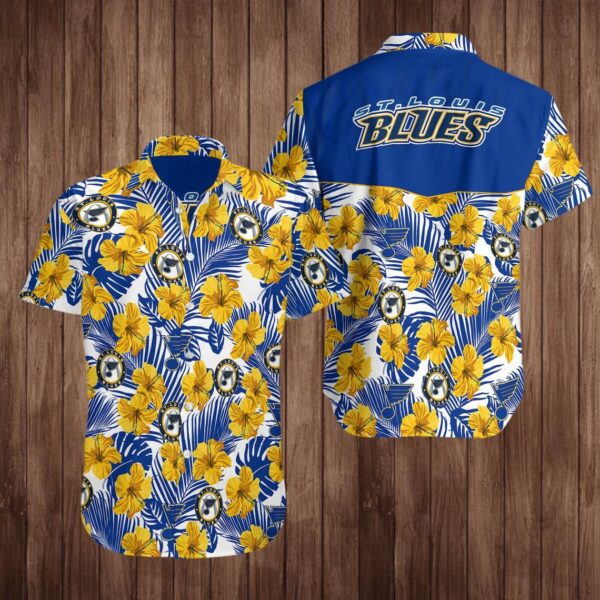 St Louis Blues Hockey Hawaiian Aloha shirt