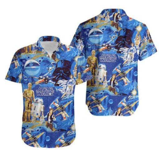 Star Wars Classic 3D hawaiian shirt