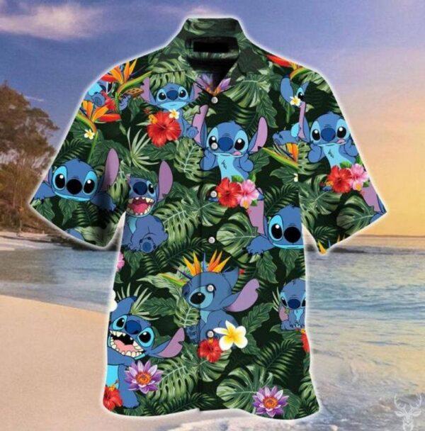 Stitch And Lilo Art Hawaiian shirt Stitch Hawaiian Shirt